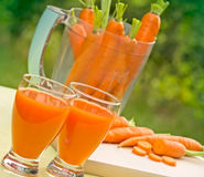 Carrot juice - smoothie Royalty Free Stock Images