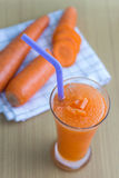 Carrot juice smoothie Royalty Free Stock Image