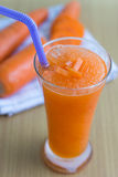 Carrot juice smoothie Royalty Free Stock Photography