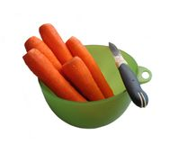 Carrot and Knife Royalty Free Stock Image