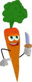 Carrot with a knife Royalty Free Stock Photography