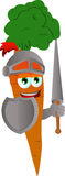 Carrot knight Stock Photography