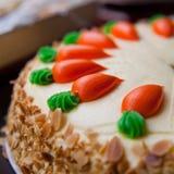 Carrot layer cake Stock Photo