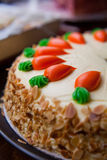 Carrot layer cake Royalty Free Stock Image