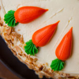 Carrot layer cake Stock Photography