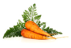 Carrot and leaf Royalty Free Stock Photos
