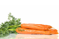 Carrot with leaves Stock Photo