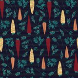 Carrot and leaves pattern royalty free illustration
