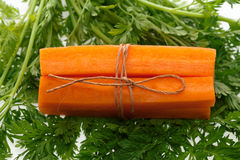 Carrot on  leaves Stock Photography