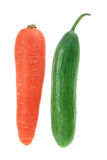 Carrot and Lebanese Cucumber Royalty Free Stock Photos