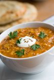 Carrot and lentil soup Stock Images