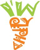 Carrot lettering Royalty Free Stock Images