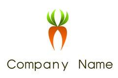 Carrot  logo. Illustration representing a carrot abstarct shape Stock Photography