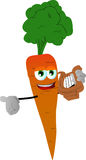 Carrot with lyre Stock Image