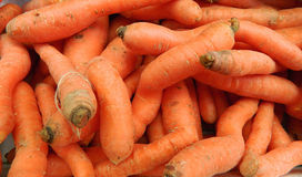 Carrot in market Royalty Free Stock Photos