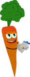 Carrot market researcher Royalty Free Stock Photo