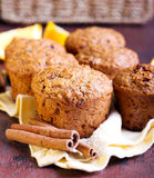 Carrot and marmalade muffins Stock Images