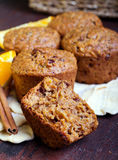 Carrot and marmalade muffins Royalty Free Stock Photography