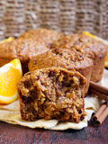 Carrot and marmalade muffins Royalty Free Stock Photo
