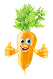 Carrot mascot cartoon. An illustration of a cute happy carrot mascot giving a thumbs up royalty free illustration