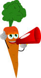 Carrot with megaphone Stock Photo