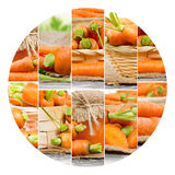 Carrot Mix Slices Royalty Free Stock Photos