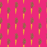 Carrot monotonous pattern Royalty Free Stock Image