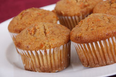 carrot muffins Stock Image
