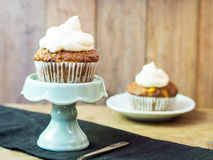 Carrot muffins Stock Images