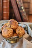 Carrot muffins with maple syrup Royalty Free Stock Photography
