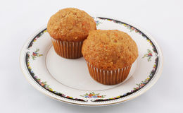 Carrot muffins in plate Stock Photo