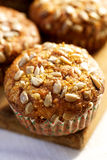 Carrot muffins with sunflower seeds Royalty Free Stock Photography
