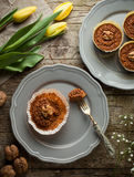 Carrot muffins with walnut Royalty Free Stock Photo