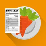 Carrot with nutrition facts. Vector illustration design Stock Photography