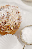 Carrot and oats healthy muffin with cake tin Royalty Free Stock Image
