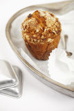 Carrot and oats healthy muffin with cake tins Royalty Free Stock Photo