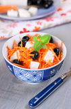 Carrot, olives and feta salad Royalty Free Stock Image
