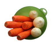Carrot and Onion Royalty Free Stock Images