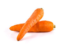 Carrot. Orange carrot isolated on white background Stock Photos