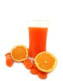 Carrot and orange juice Royalty Free Stock Photo