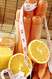 Carrot and orange juice Royalty Free Stock Photo