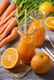Carrot orange juice Stock Photo