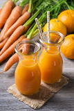 Carrot orange juice Royalty Free Stock Photos