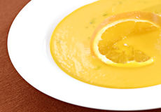 Carrot and orange soup Royalty Free Stock Images