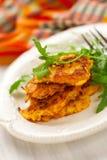 Carrot pancakes Stock Photo