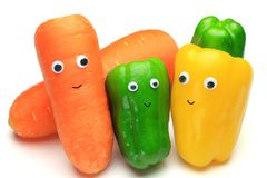 Carrot and paprika Royalty Free Stock Images