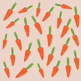 Carrot pattern Stock Images
