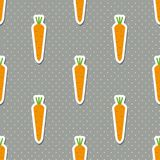 Carrot pattern. Seamless texture with ripe carrots Royalty Free Stock Image