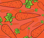 Carrot pattern Royalty Free Stock Photos