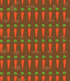 Carrot pattern Royalty Free Stock Images